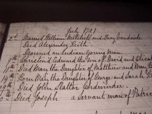 Alexander Keith Death Record